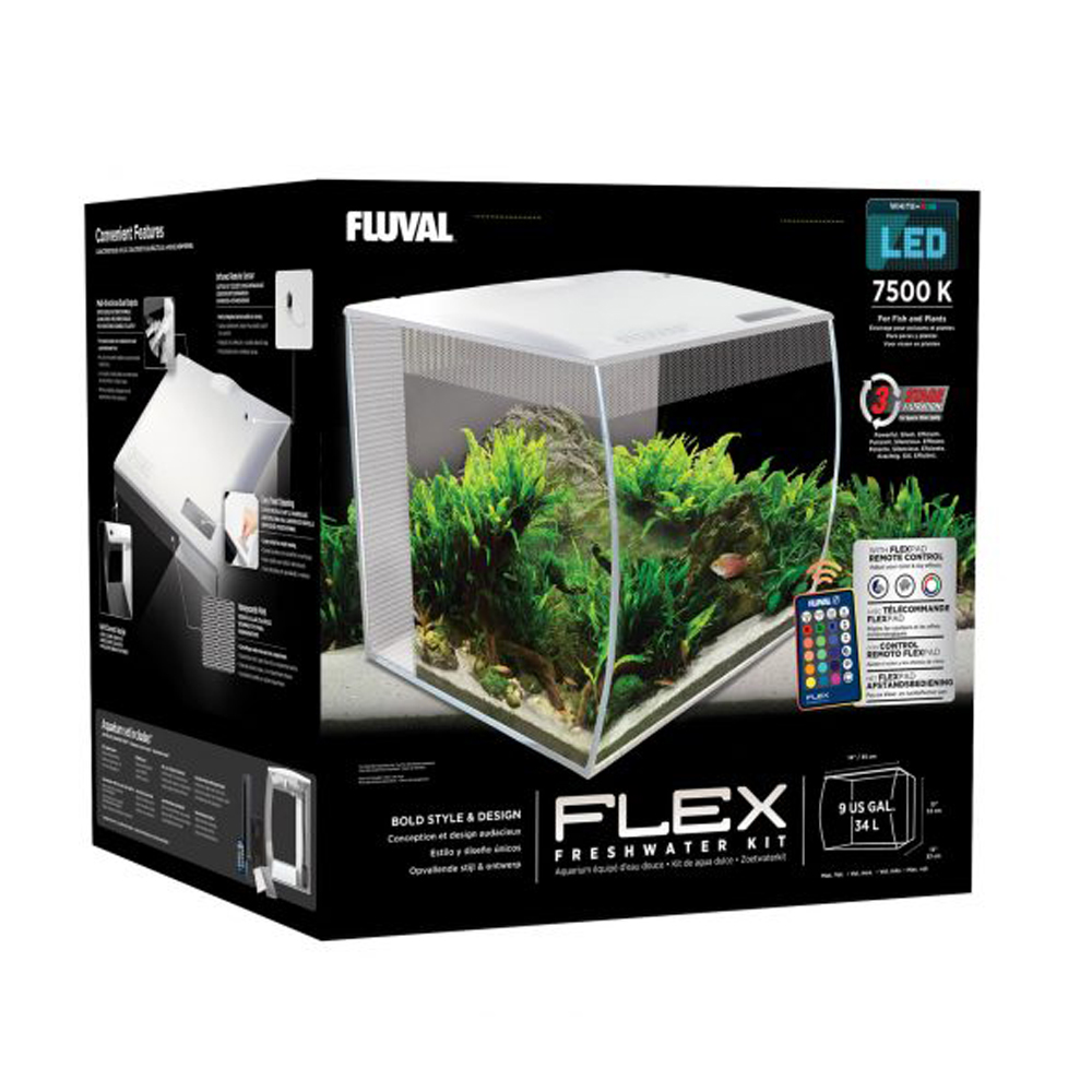 Fluval Flex Aquarium Kit, 32 5 US Gal (123 L)